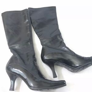 Franco Sarto 8.5 Black Boots Hand Made In Brazil